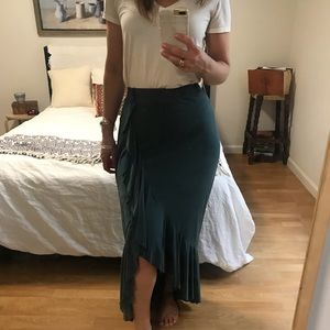 Anthropologie Ruffles Skirt